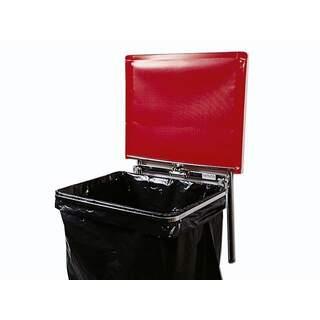 Väggfast säckhållare med plastlock | 125 liter